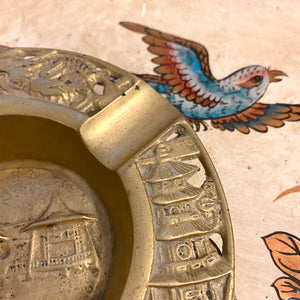 Chinese Dragon and Architecture Ashtray