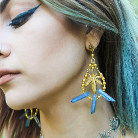 Blue Crystal Meth Earrings