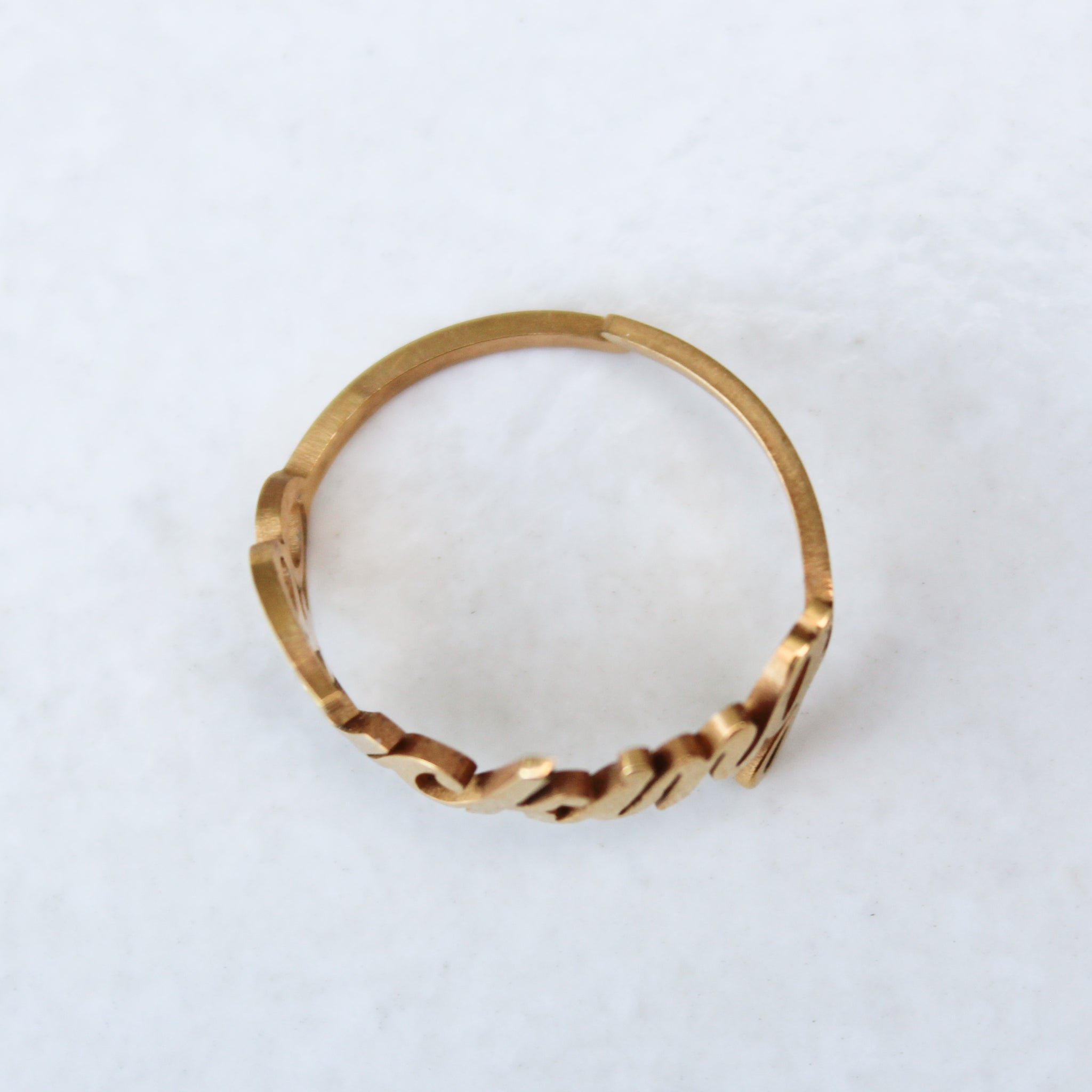 Fucking Gold Statement Ring - Blunted Objects