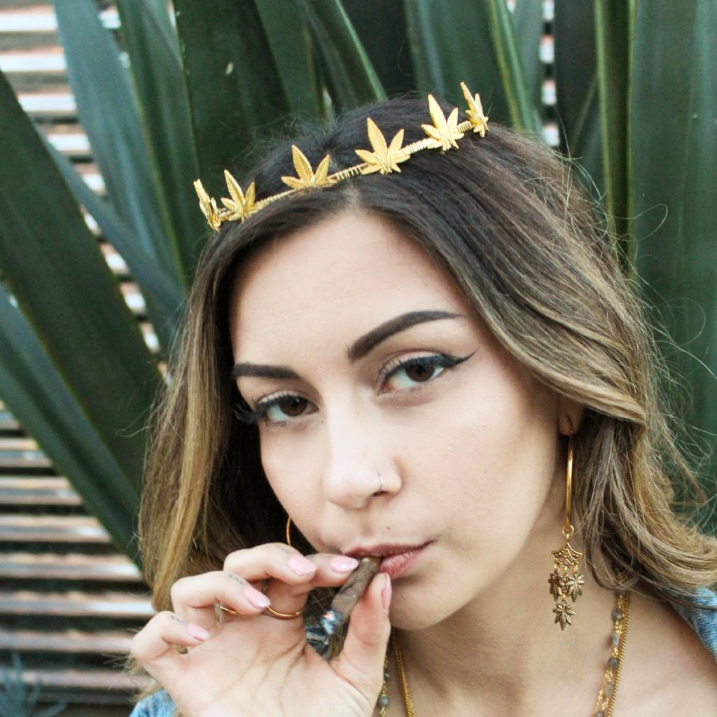 Pot Princess Weed Crown (Gold) - Blunted Objects