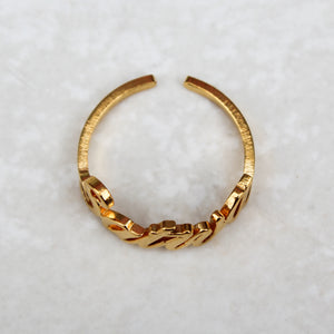 Sativa Gold Statement Ring - Blunted Objects