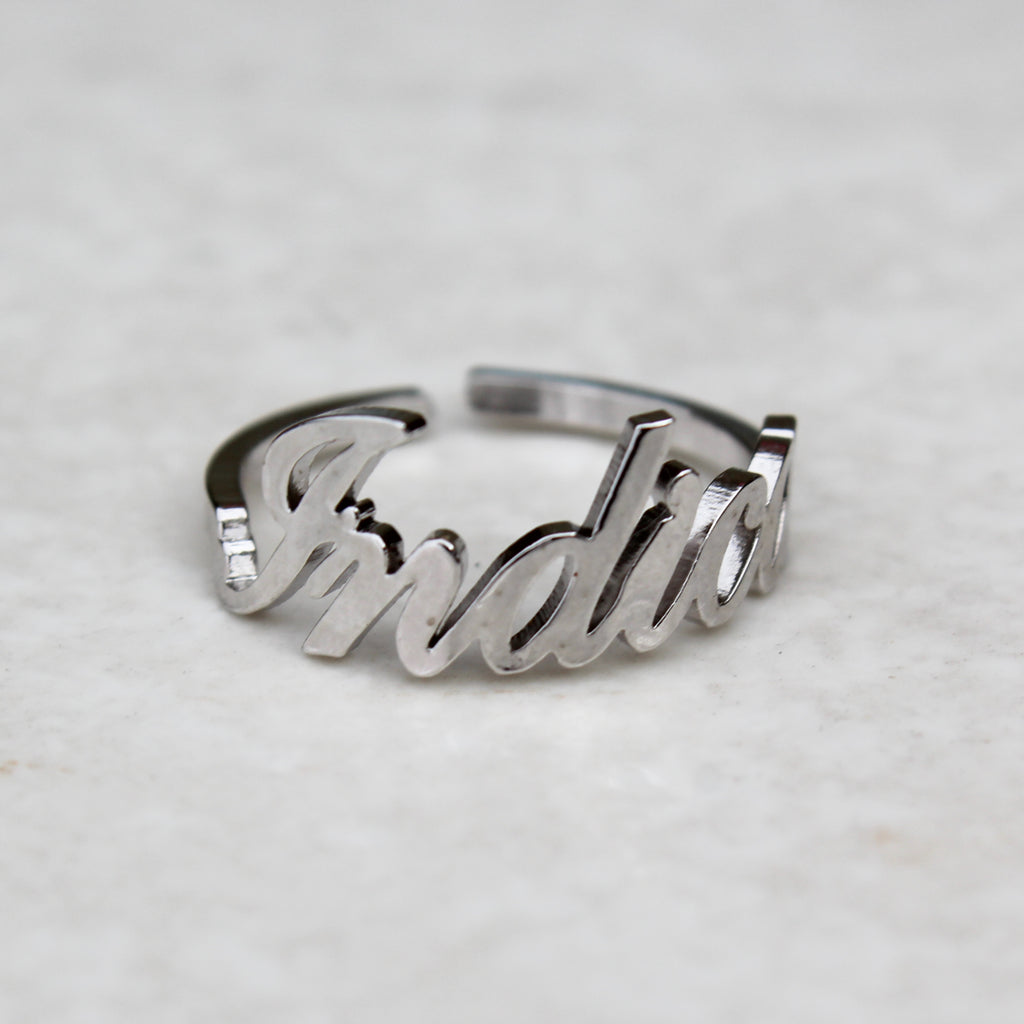 Indica Silver Statement Ring - Blunted Objects