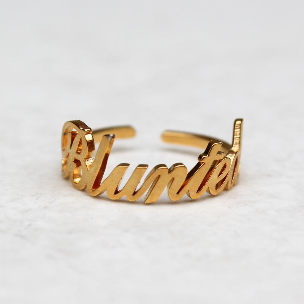 Blunted Gold Statement Ring - Blunted Objects