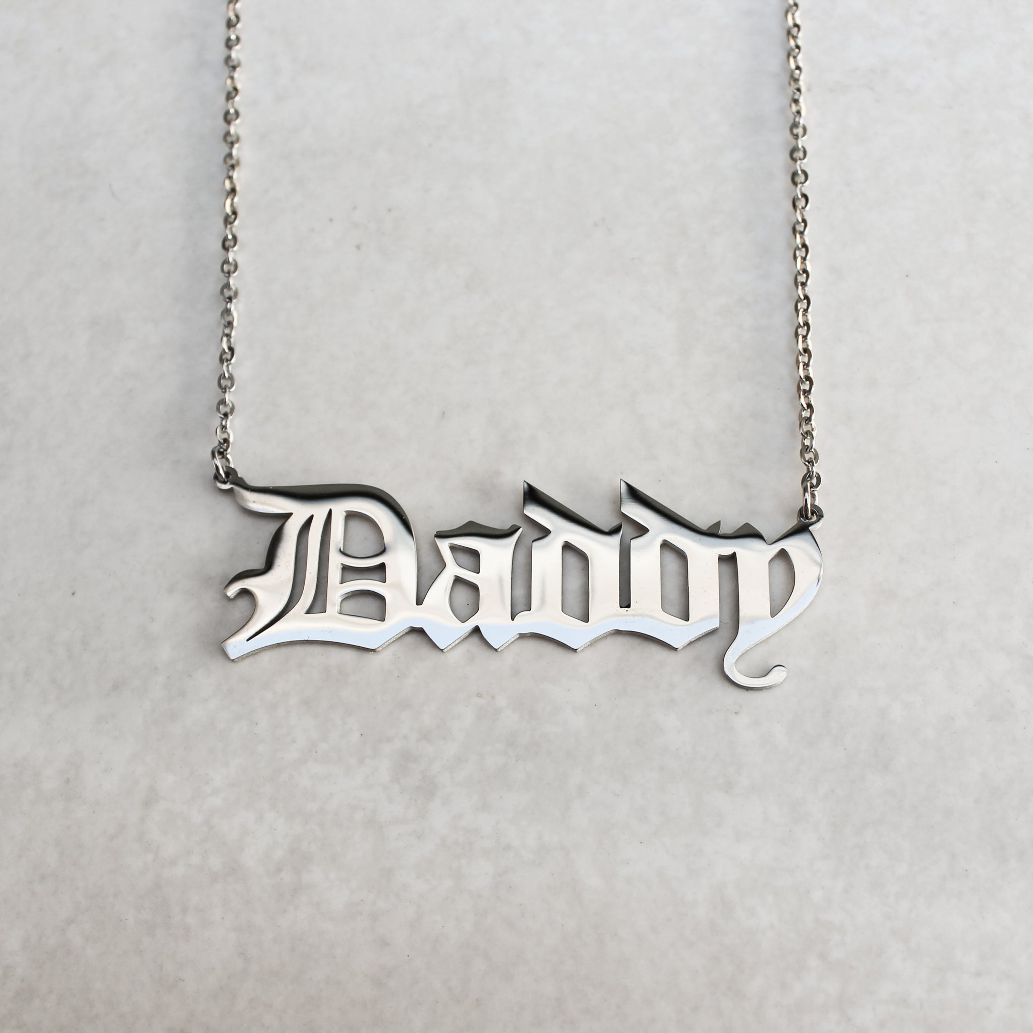 Daddy + Baby Necklace Set with Pouches - Silver - Blunted Objects