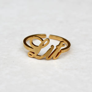 Lit Gold Statement Ring - Blunted Objects