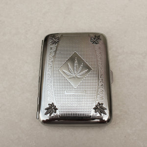 Silver Pot Leaf Etched Joint Case - Blunted Objects