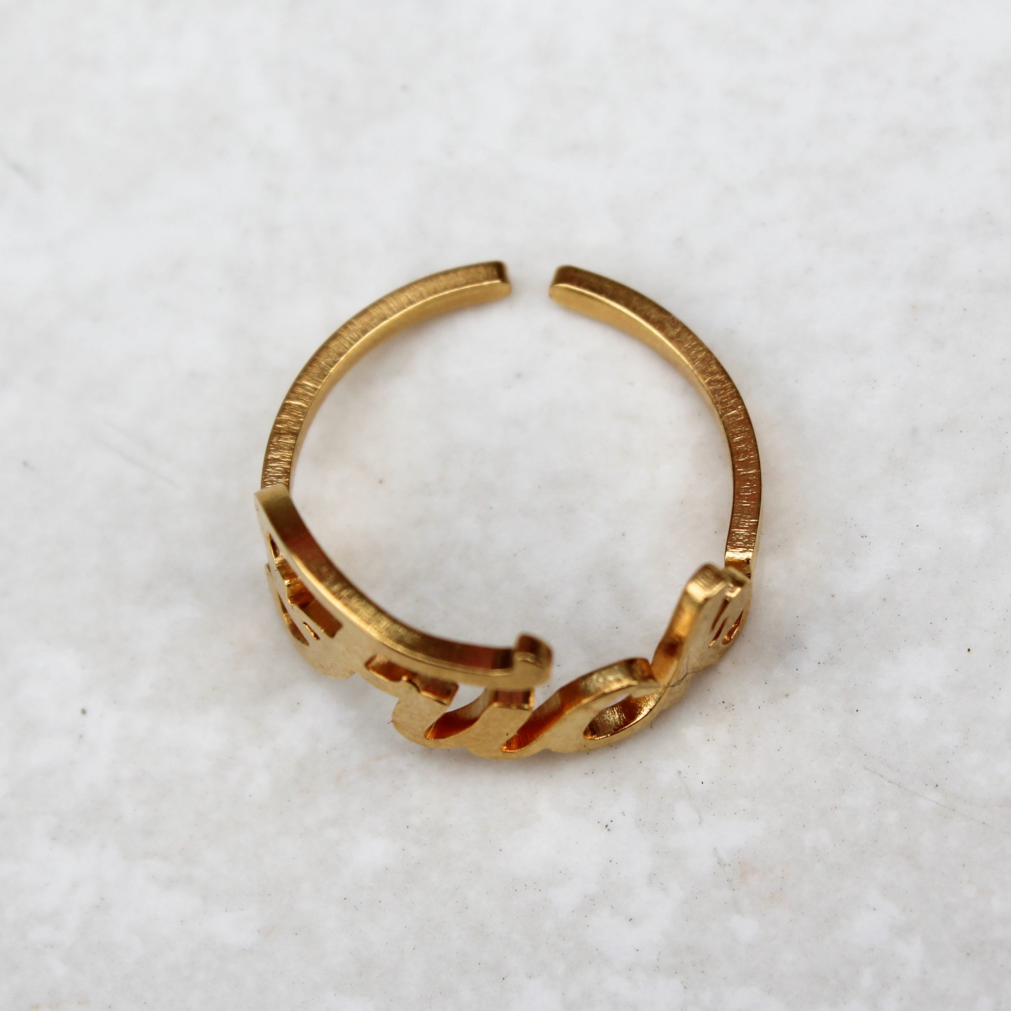 Fuck Gold Statement Ring - Blunted Objects