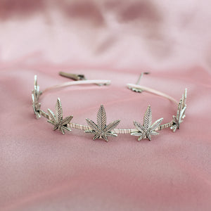 Pot Princess Weed Crown (Silver) - Blunted Objects