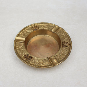 Floral Luxe Weed Leaf Gold Ashtray - Blunted Objects