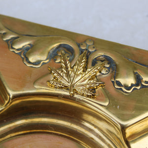 Gold Weed Leaf Embellished Art Noveau Ashtray - Blunted Objects