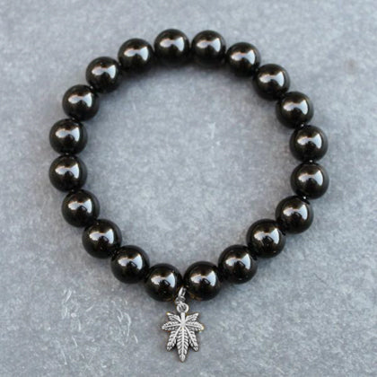 Heavy Hit Beaded Bracelet (Onyx) - Blunted Objects
