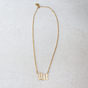 Lit Gold Statement Necklace - Blunted Objects