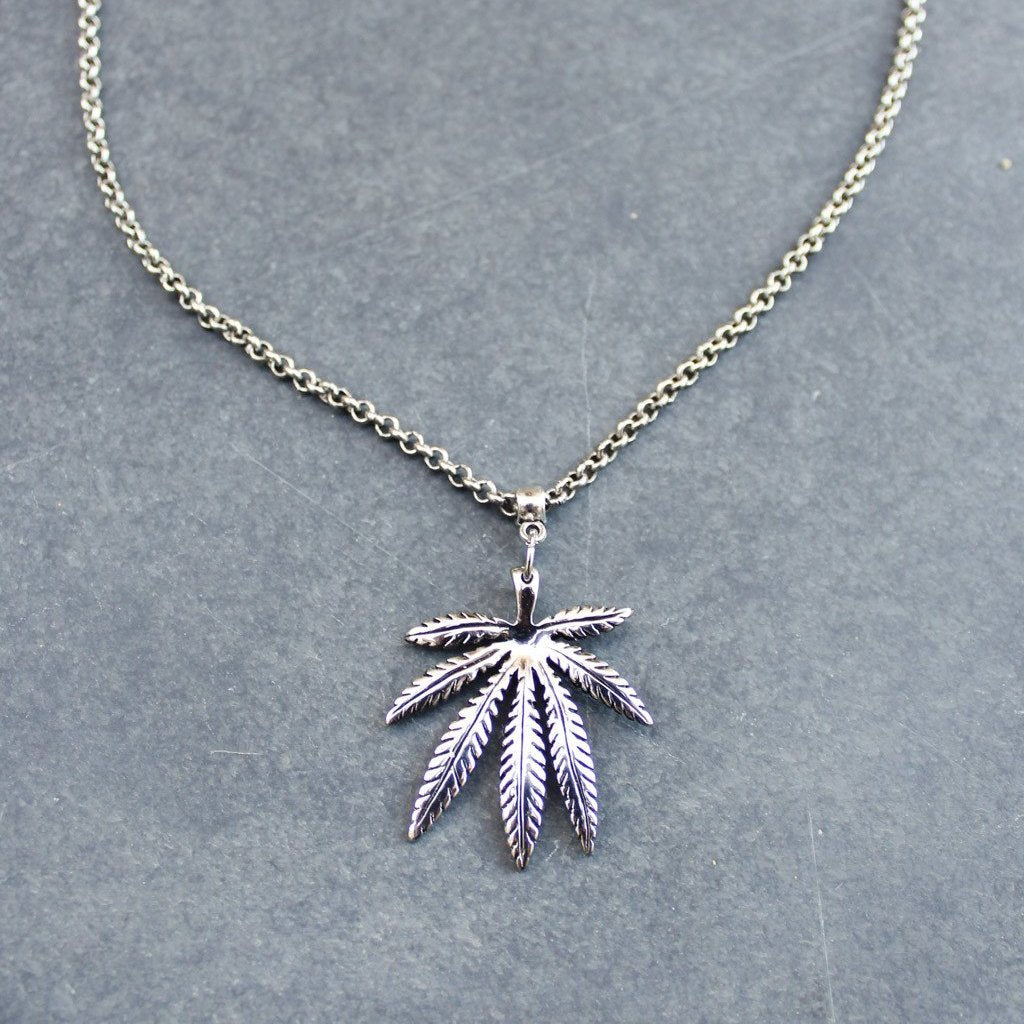 Creeper High Leaf Pendant Necklace - Blunted Objects