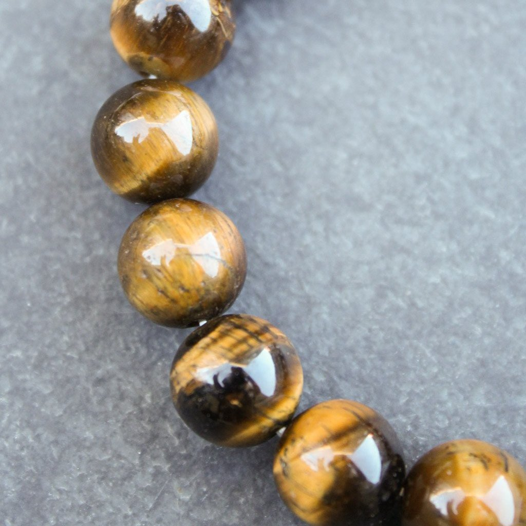 Heavy Hit Beaded Bracelet (Tiger Eye) - Blunted Objects