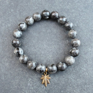 Heavy Hit Beaded Bracelet (Larvikite) - Blunted Objects