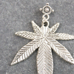 Top Shelf Leaf Earrings (Silver) - Blunted Objects