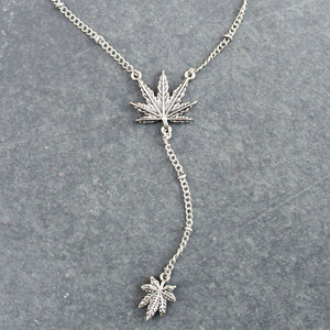 Weed Leaf Lariat (Silver) - Blunted Objects