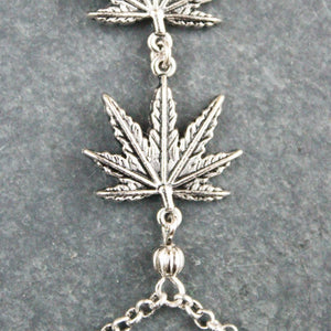 Weed Leaf Handchain (Silver) - Blunted Objects