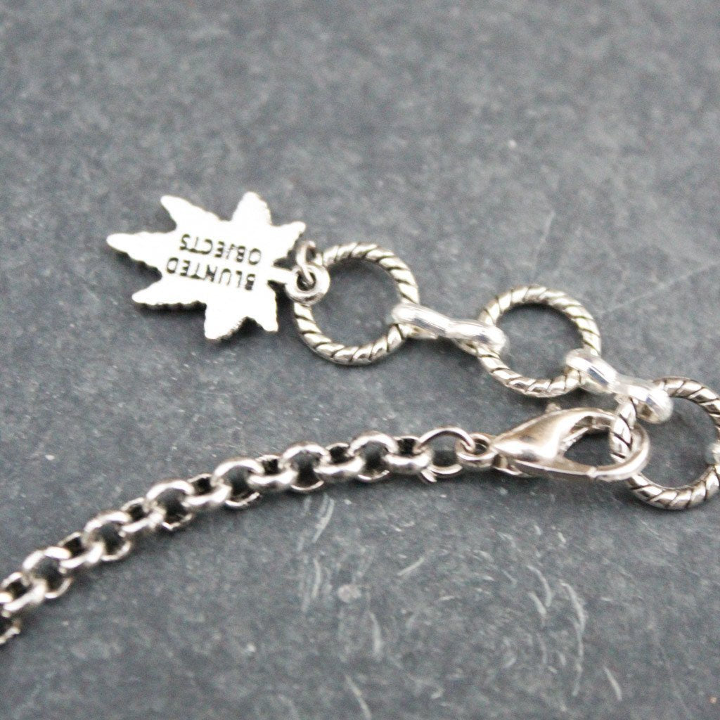 Tattoo Leaf Choker (Silver) - Blunted Objects