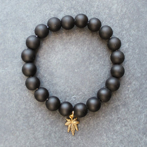 Heavy Hit Beaded Bracelet (Matte Onyx) - Blunted Objects