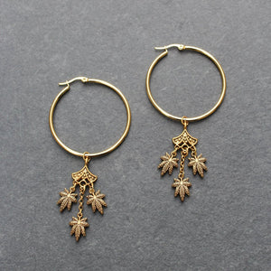 Boho Reefer Hoop Earrings - Blunted Objects