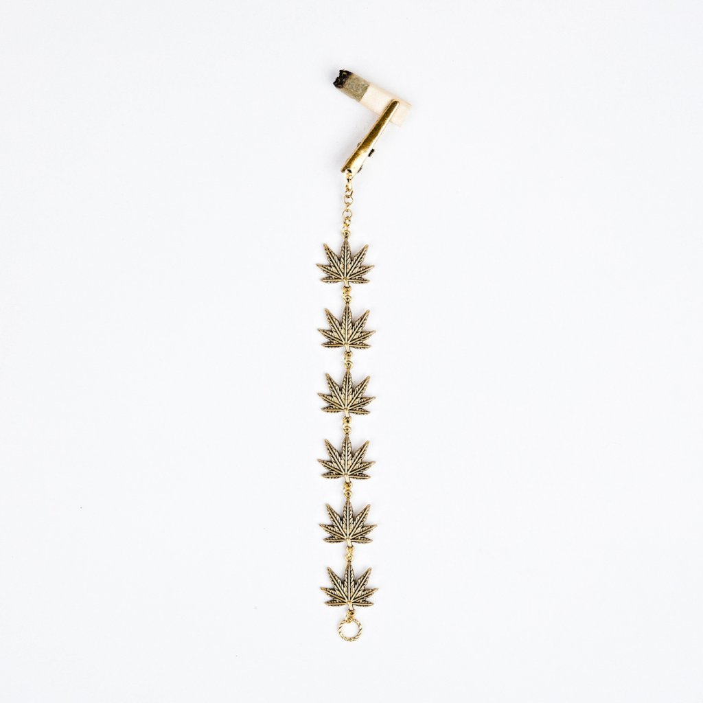 Gold Leaf Roach Clip Bracelet - Blunted Objects