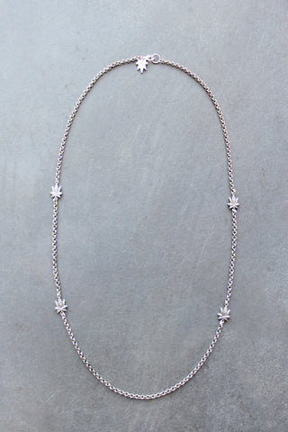 Chronically Ill Leafs Necklace (Silver)