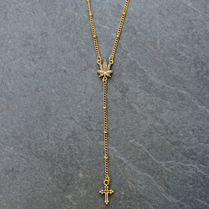 Daily Ritual Delicate Rosary (Gold) - Blunted Objects