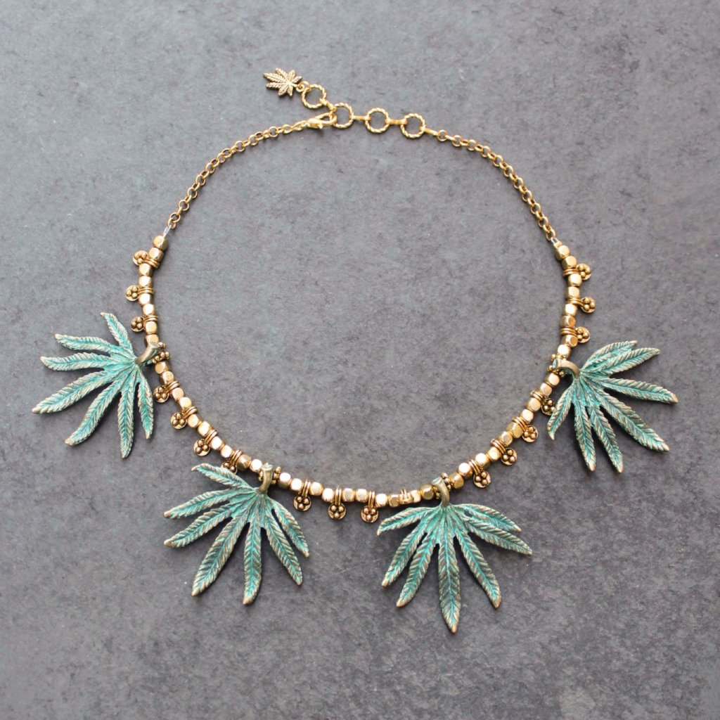 Ganja Goddess Statement Necklace - Blunted Objects