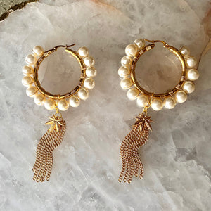 Pearl Cannabis Statement Hoops