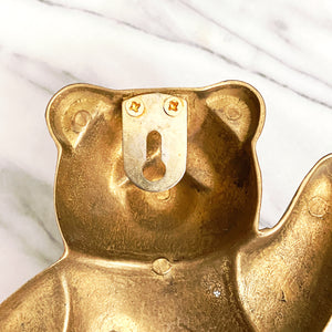 Gold Brass Panda Wall Hook