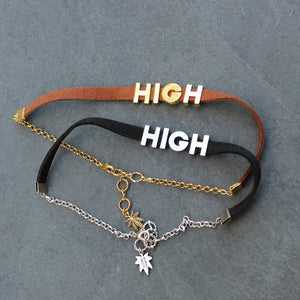 High AF Faux Leather Choker - Blunted Objects
