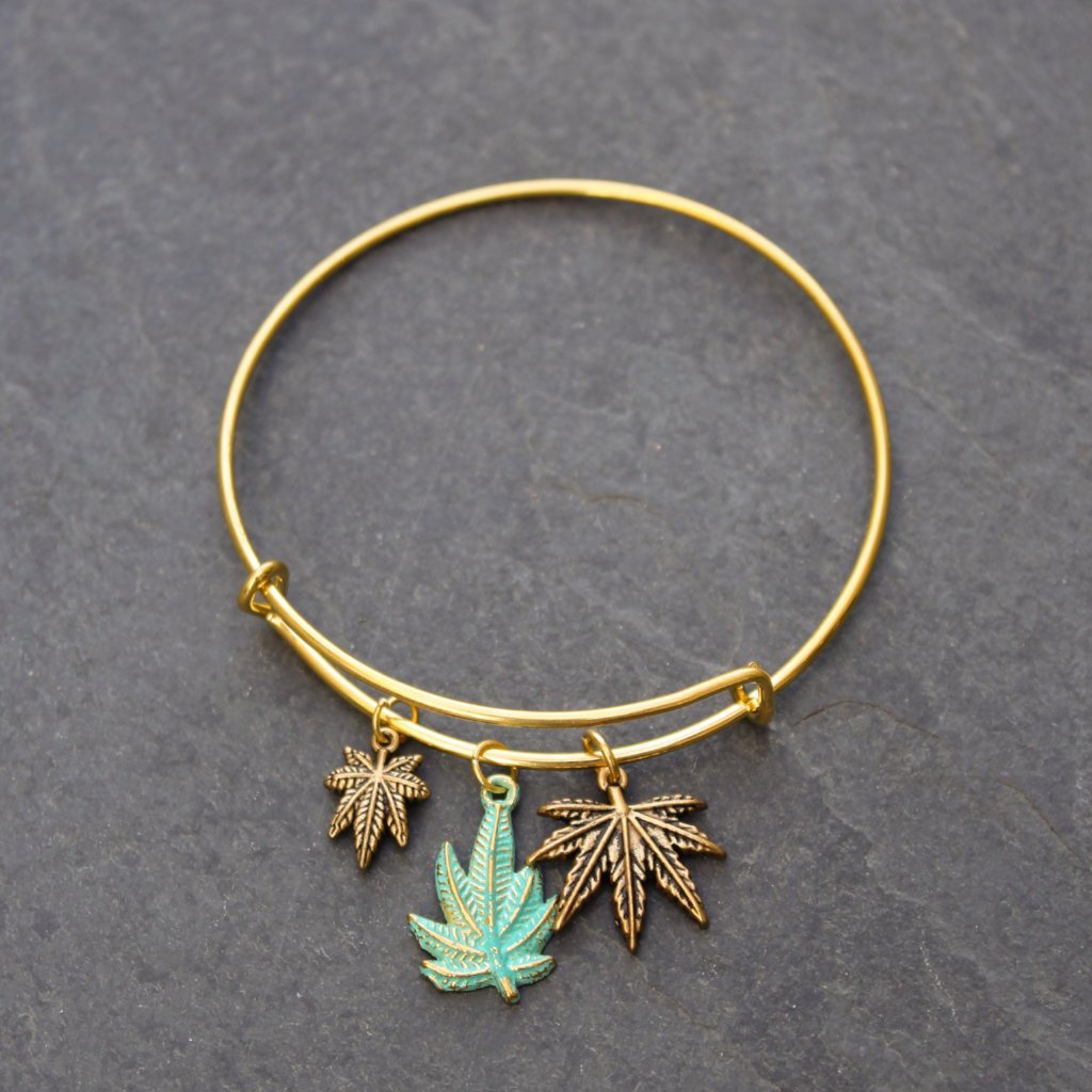 Secret Stoner Wire Charm Bangle - Blunted Objects