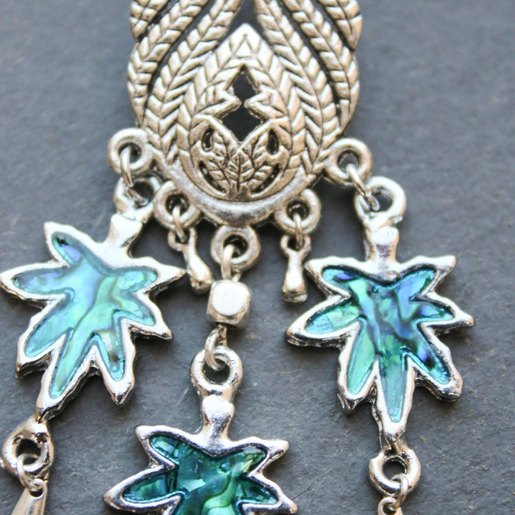 Blue Dreamcatcher Chandelier Earrings - Blunted Objects