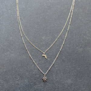 Rep My State Florida Layered Necklace (Silver) - Blunted Objects