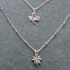 Rep My State Texas Layered Necklace (Silver) - Blunted Objects