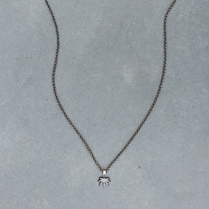 Puff and Pass Leaf Necklace (Gunmetal) - Blunted Objects