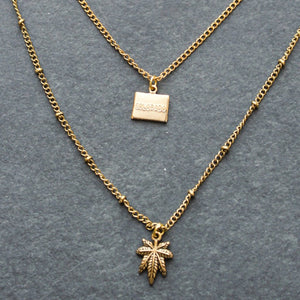 Rep My State Colorado Layered Necklace (Gold) - Blunted Objects