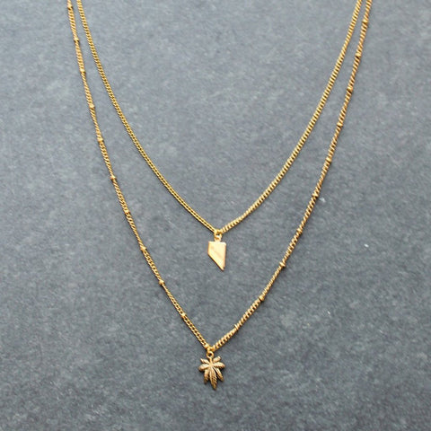 Rep My State Nevada Layered Necklace (Gold)