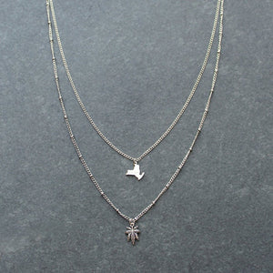 Rep My State New York Layered Necklace (Silver) - Blunted Objects
