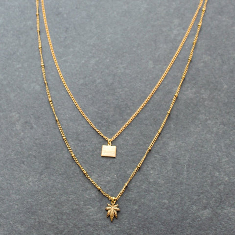 Rep My State Colorado Layered Necklace (Gold)