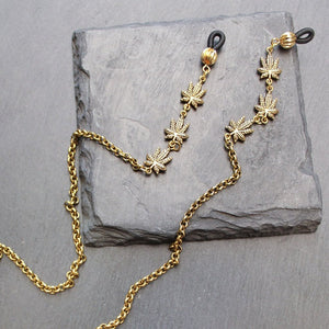 Trinity Leaf Glasses Chain (Gold) - Blunted Objects