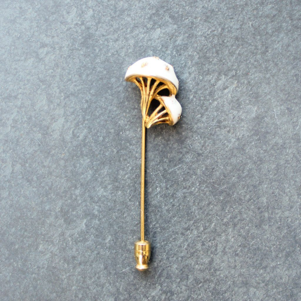 White Enamel Mushroom Poker - Blunted Objects