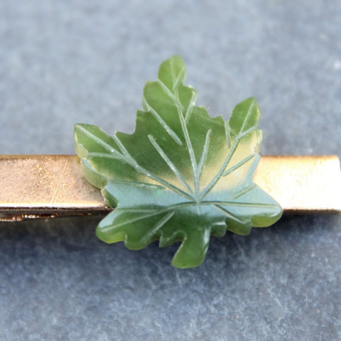 King Louie Jade Leaf Tie Clip