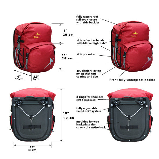 Arkel Dolphin 48 Panniers (Pair)