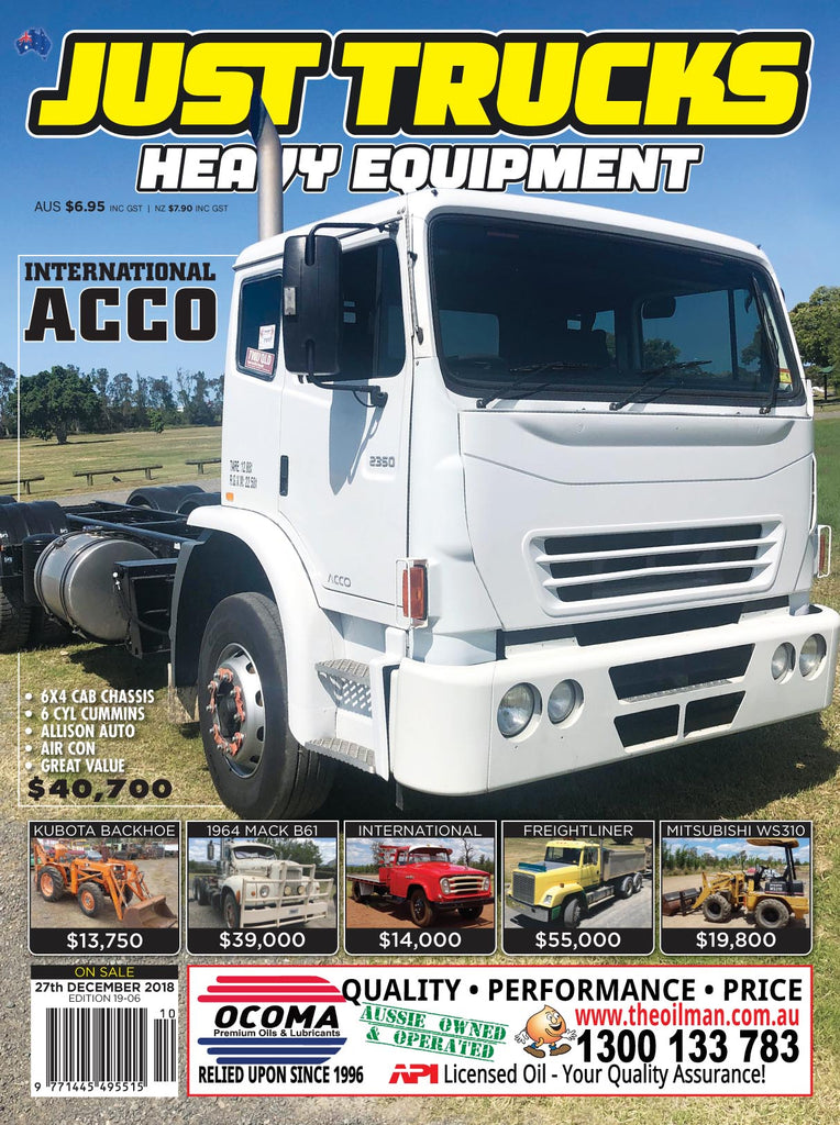 JUST TRUCKS & HEAVY EQUIPMENT 12 Month Subscription