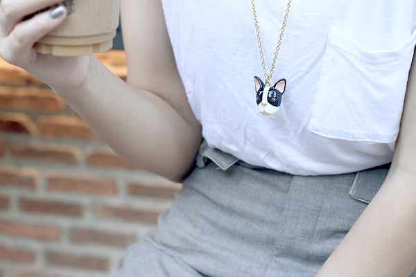 french bulldog necklace goodafternine