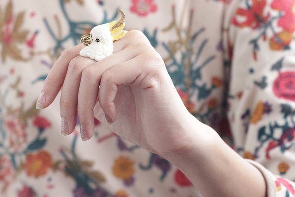 Sophia cockatoo ring goodafternine