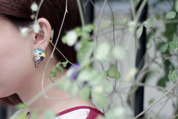 Arara macaw earring goodafternine