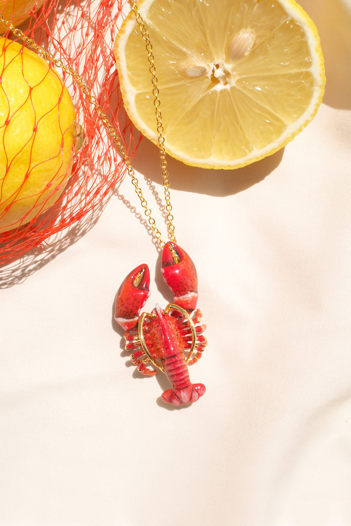 Red Lobster Necklace | Ocean Instruments